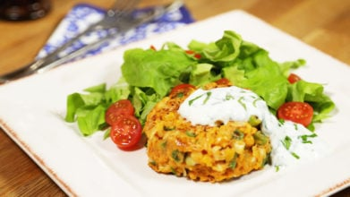 Curried Chickpea and Sweet Potato Burger