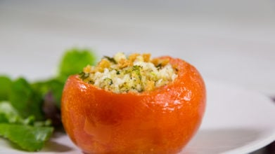 Baked Tomatoes with Goat's Cheese