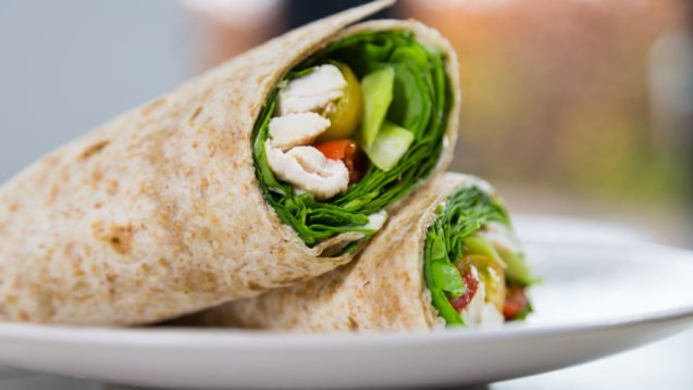 Wholemeal Chicken Wrap