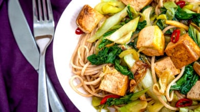 Chinese Tofu & Pak Choi with Noodles